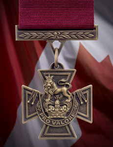 The first Canadian Victoria Cross medal - produced by the Government of Canada
